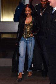 Karrueche Tran - In jeans outside Madison Square Garden in NYC
