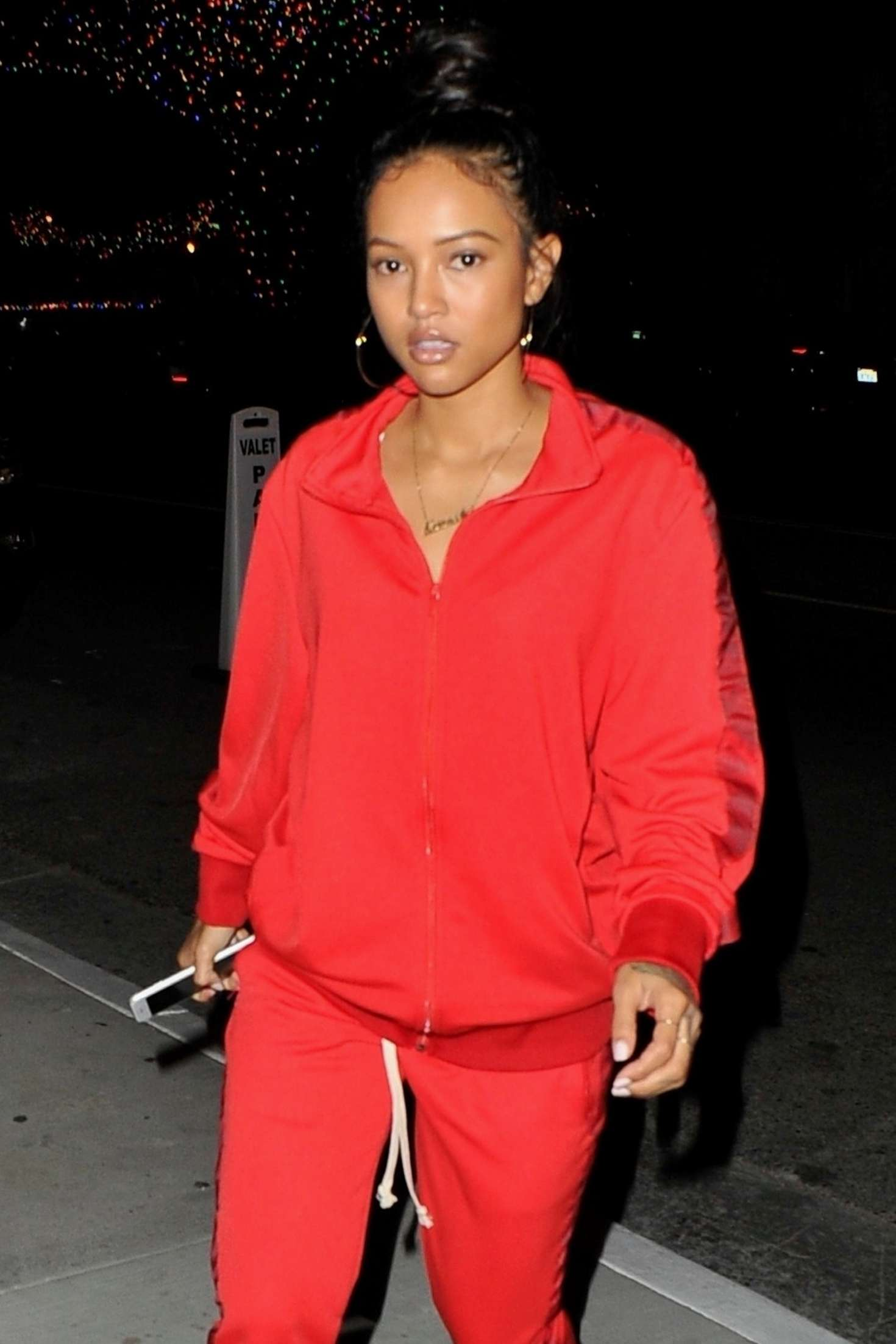 Karrueche Tran in Red - Night out in West Hollywood
