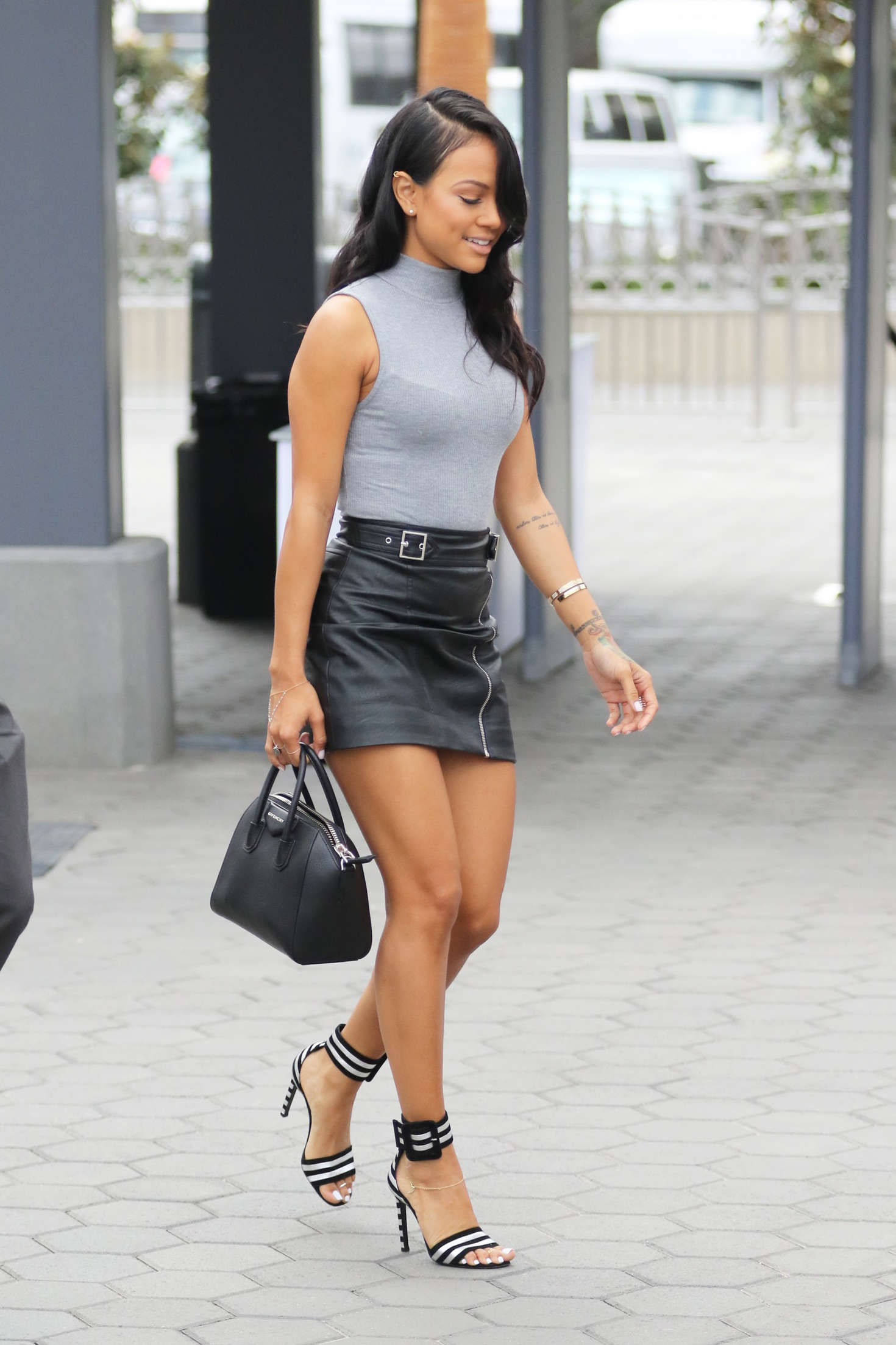 Karrueche Tran In Mini Skirt 10 Gotceleb