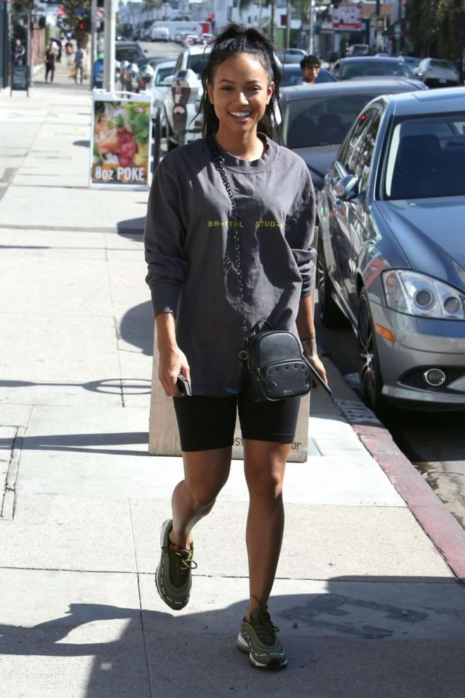 Karrueche Tran – Leaves a Nail Salon in Los Angeles