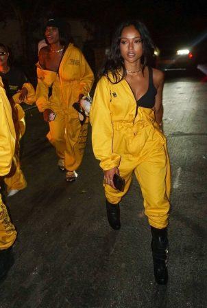 Karrueche Tran - Leaves Teyana Taylor's Album Listening Party in Beverly Hills