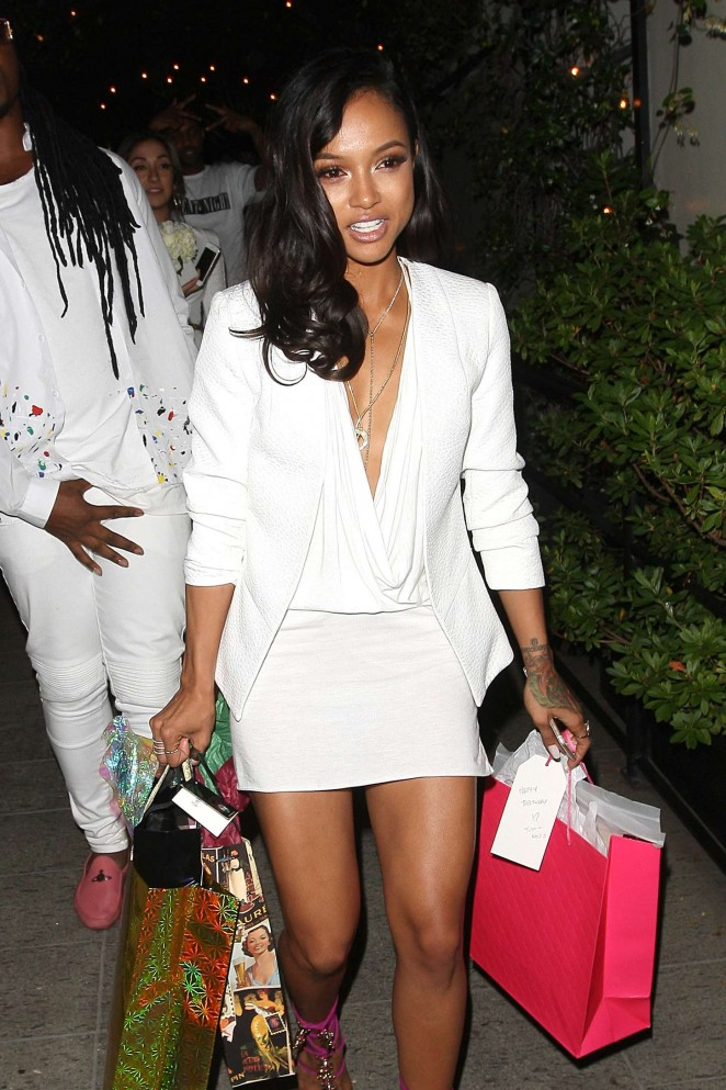 Karrueche Tran - Leaving her Birthday Party in West Hollywood