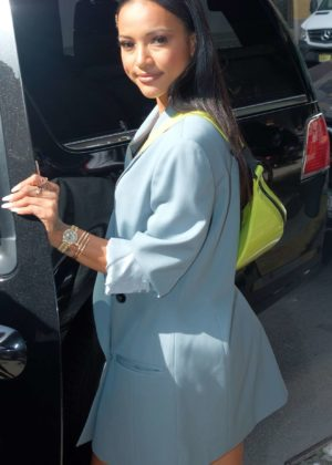 Karrueche Tran - Made an Appearance at The Wendy Williams Show in New York