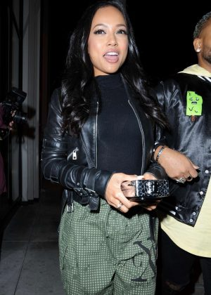 Karrueche Tran night out with friends at Catch LA in West Hollywood