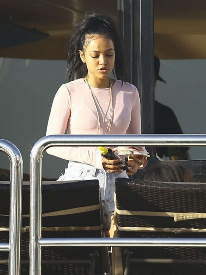 Karrueche Tran - On a Yacht in Miami