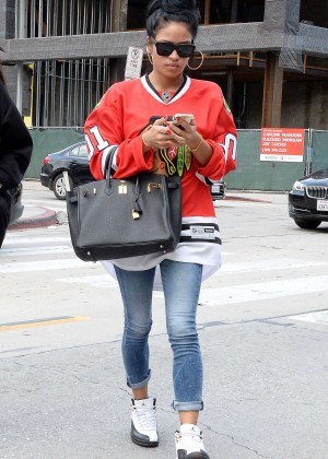 Karrueche Tran in Tight Jeans Out in LA