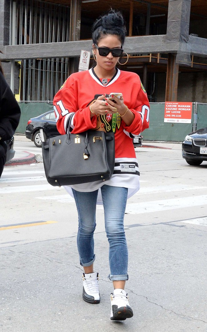Karrueche Tran in Tight Jeans Out in LA