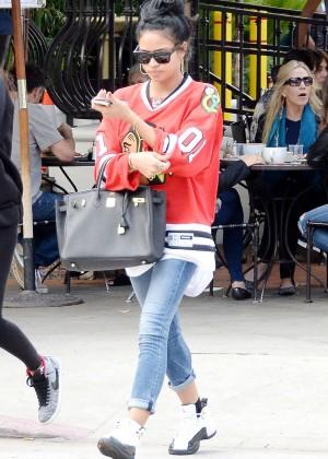 Karrueche Tran in Tight Jeans -15