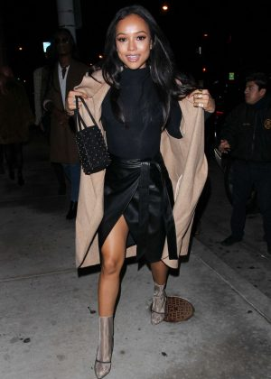 Karrueche Tran out for dinner in West Hollywood