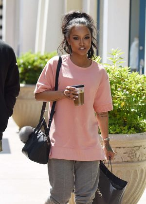 Karrueche Tran out in LA