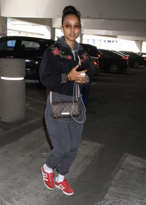Karrueche Tran out in Los Angeles