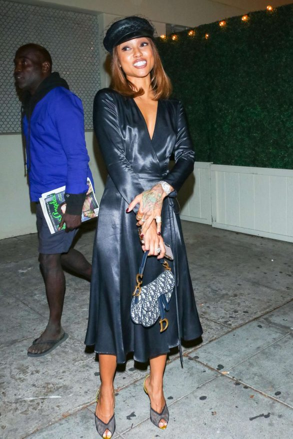 Karrueche Tran - Outside Delilah Nightclub in West Hollywood