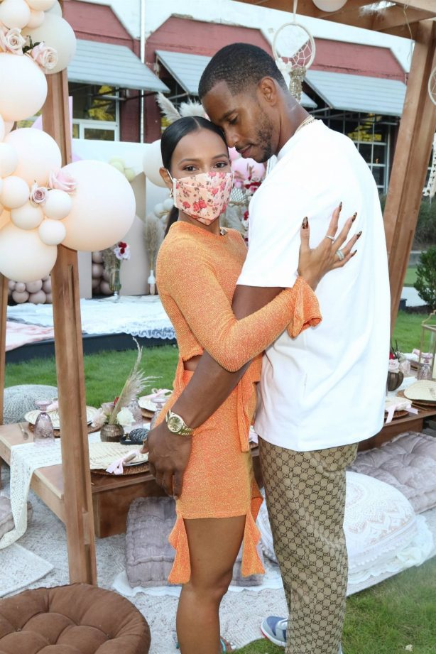 Karrueche Tran - Pictured at a Teyana and Iman's babyshower at The Gathering Spot in Atlanta