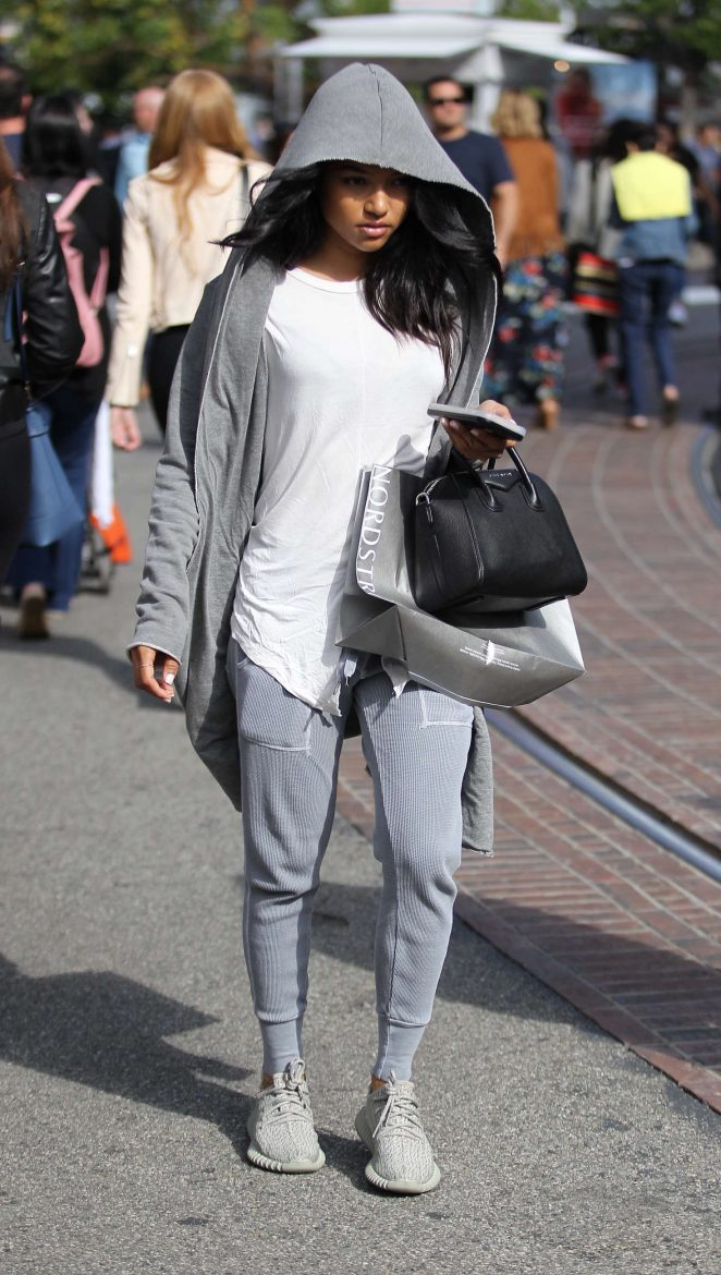 Karrueche Tran - Shopping at The Grove in Hollywood