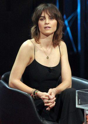 Kasia Smutniak on the Italian TV Show 'E poi c'e Cattelan' in Milan