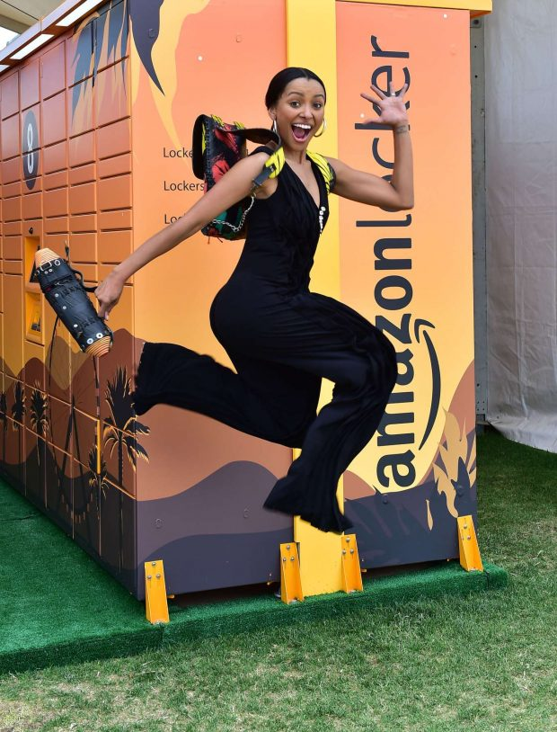 Kat Graham - Amazon Lockers at Coachella in Indio