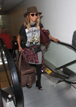 Kat Graham at LAX Airport in Los Angeles