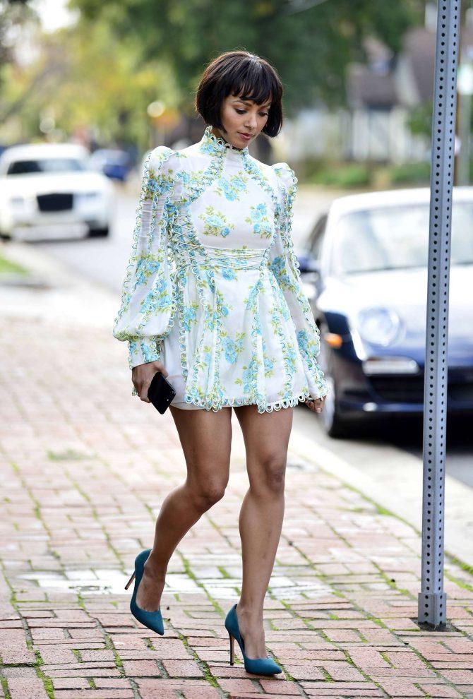 Kat Graham in Mini Dress -01
