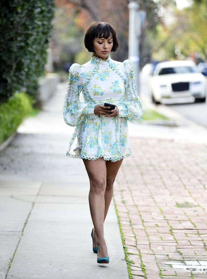 Kat Graham in Mini Dress -02
