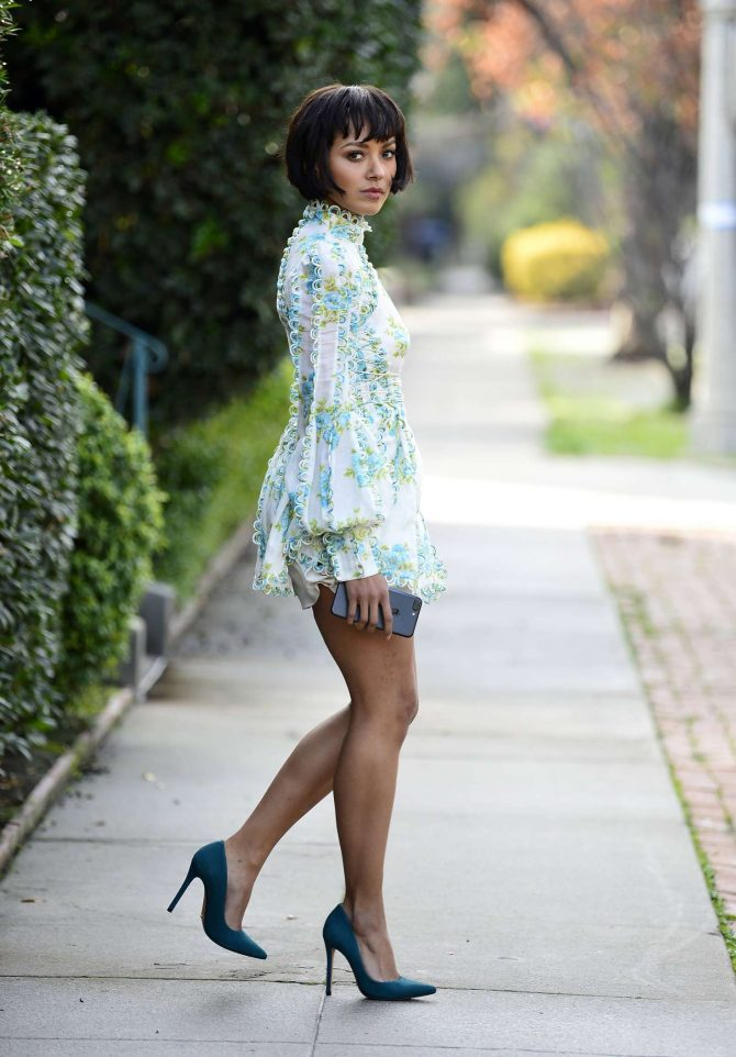 Kat Graham in Mini Dress -03