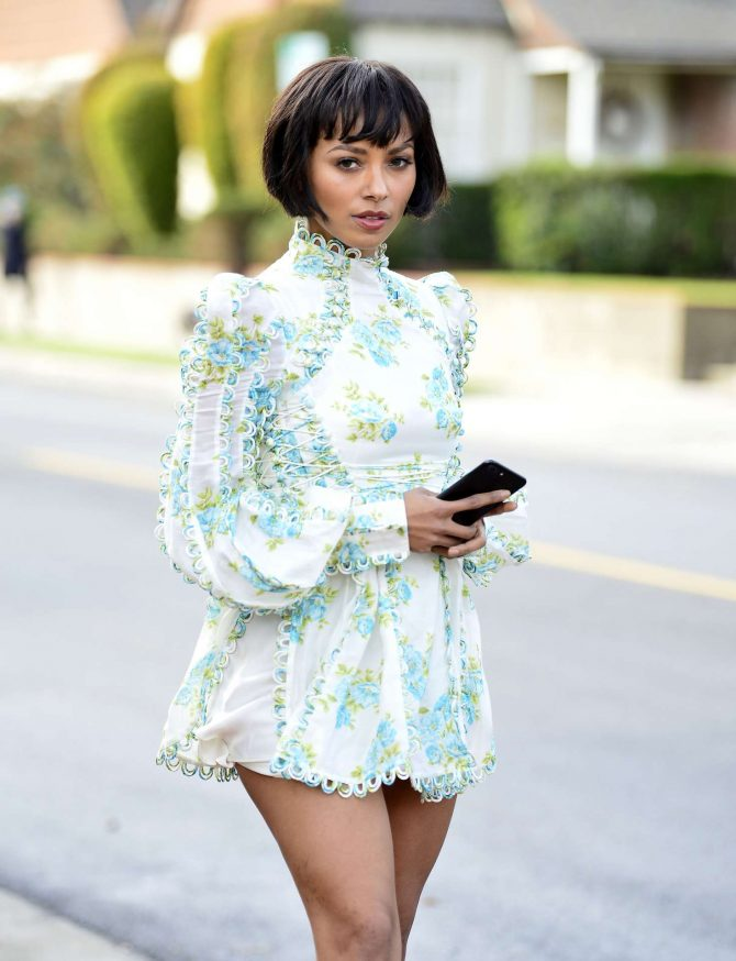 Kat Graham in Mini Dress -04