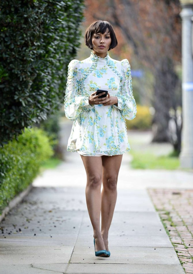 Kat Graham in Mini Dress -06