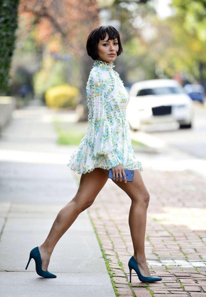 Kat Graham in Mini Dress -10
