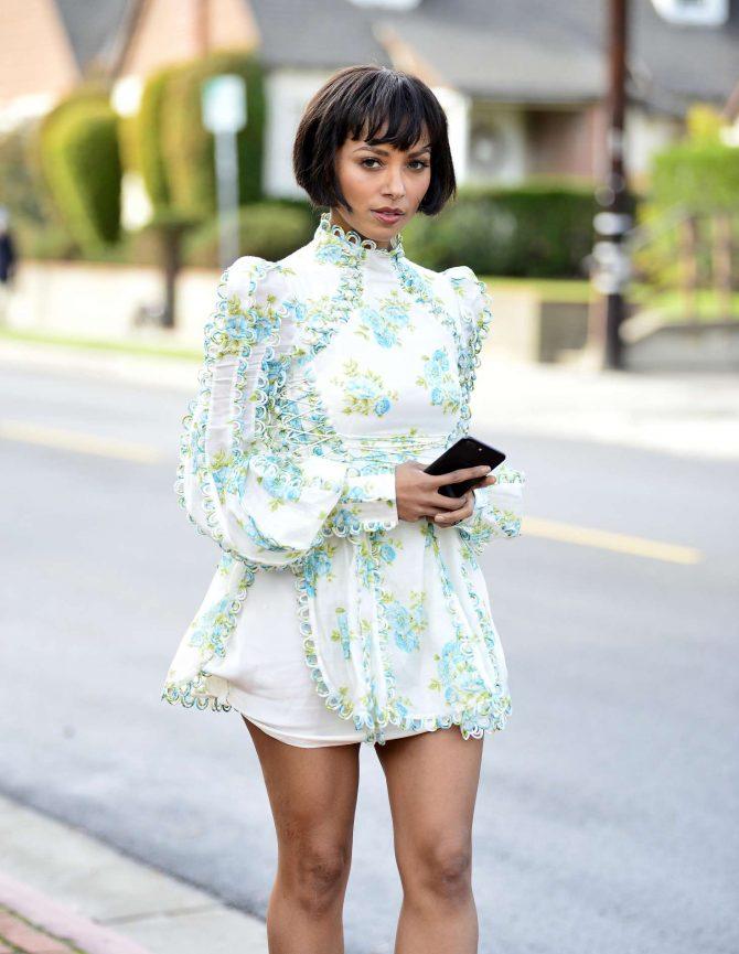Kat Graham in Mini Dress -11