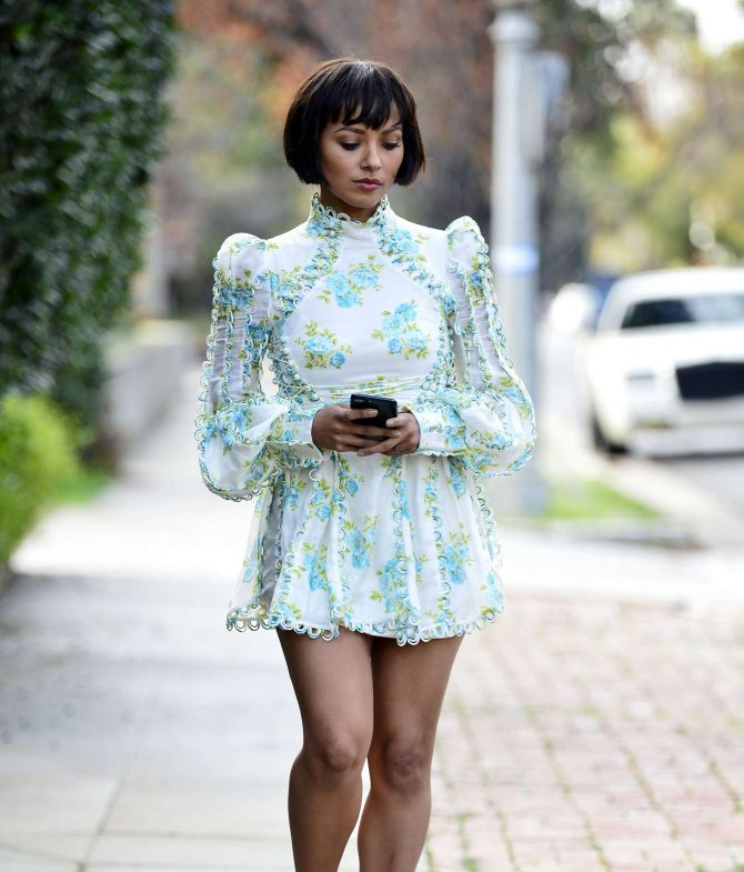 Kat Graham in Mini Dress -12