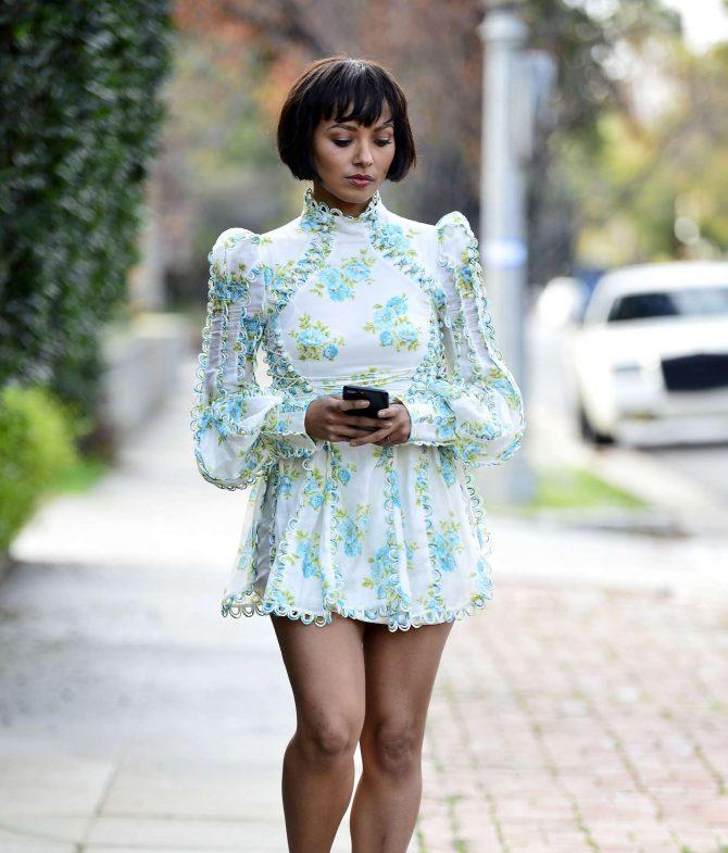 Kat Graham in Mini Dress -12