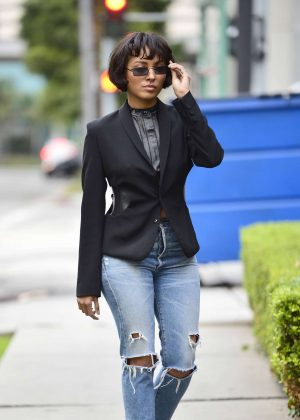 Kat Graham in Ripped Jeans – Out in LA