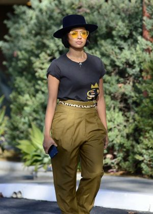Kat Graham - Leaving a meeting in Los Angeles