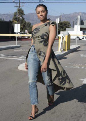 Kat Graham Leaving Extra TV in Los Angeles