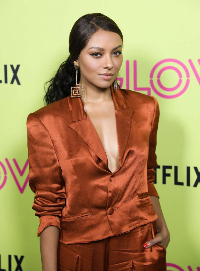 Kat Graham - Netflix 'Glow' Roller Skating Event in Los Angeles