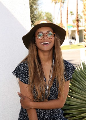 Kat Graham - Paradise House Presented By Interview in Palm Springs