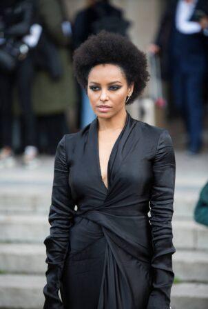 Kat Graham - Pictured leaving L'Oreal Paris 2021 Show during Paris Fashion Week