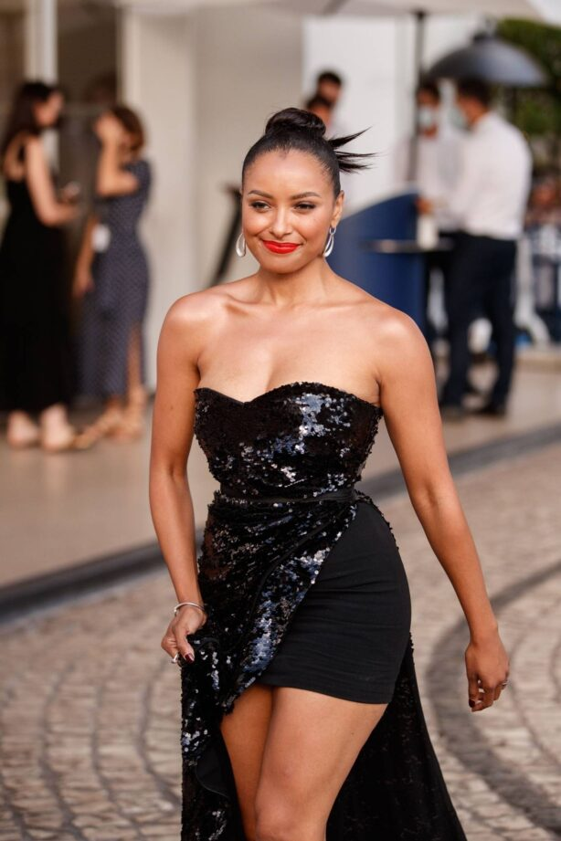 Kat Graham - Seen outside the Martinez Hotel during the 74th Cannes Film Festival in Cannes