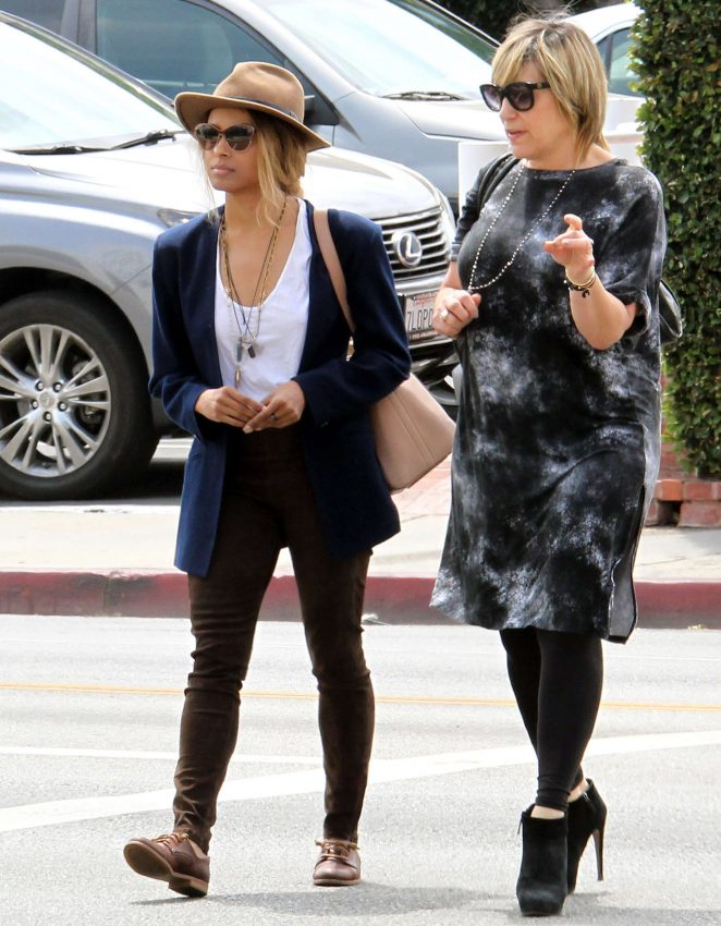 Kat Graham Shopping with a friend in West Hollywood