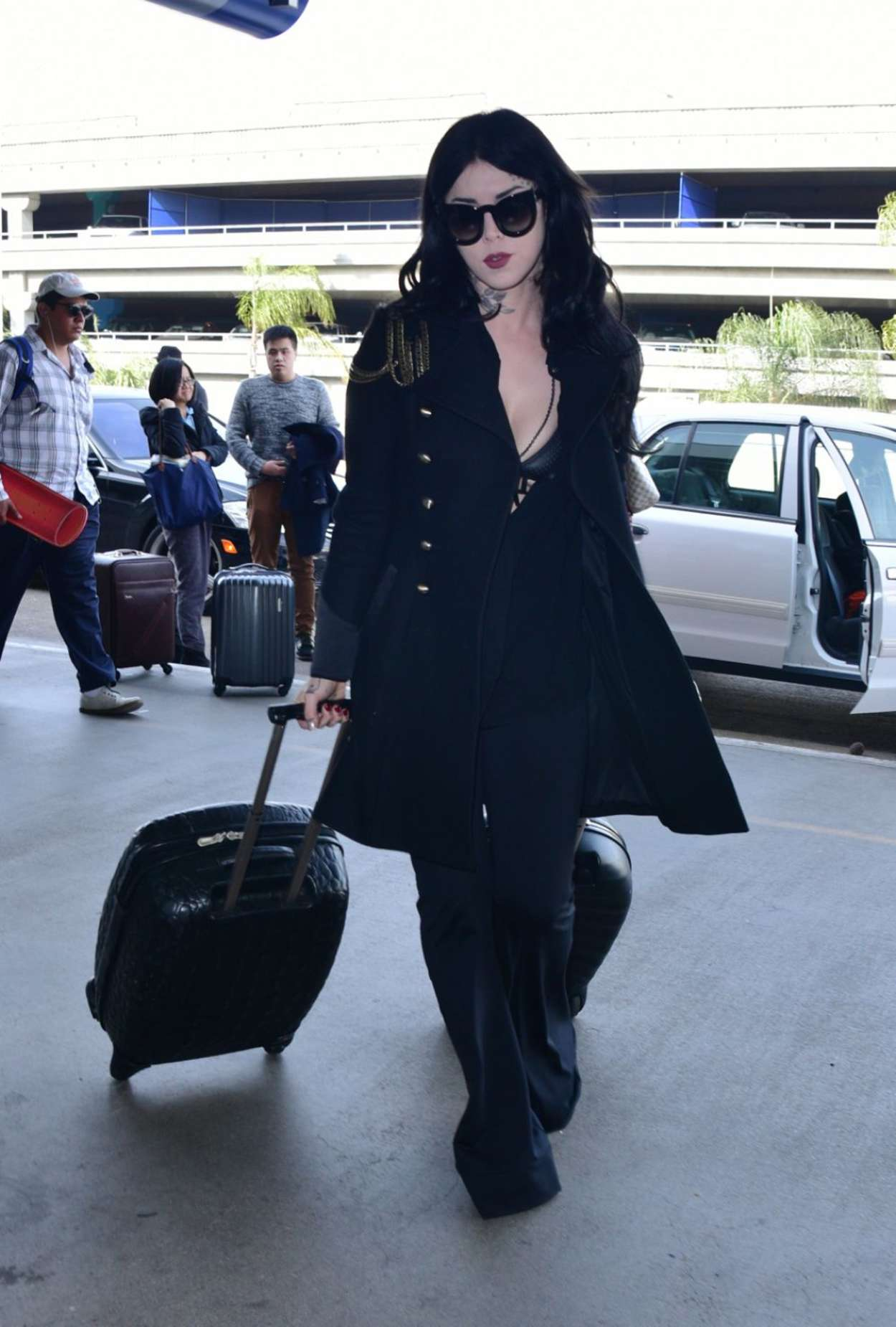 Kat Von D - Arrives at LAX Airport in Los Angeles