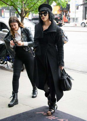 Kat Von D in Black Out in New York