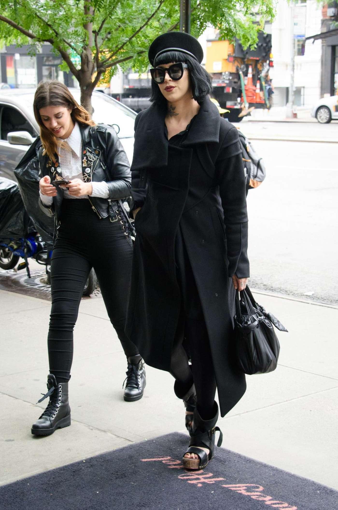 Kat Von D In Black Out In New York Gotceleb