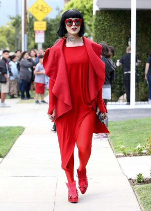 Kat Von D in Red Out in Los Angeles