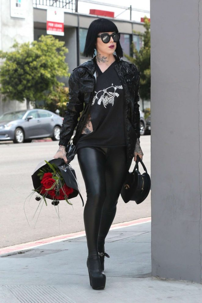 Kat Von D Out in Los Angeles