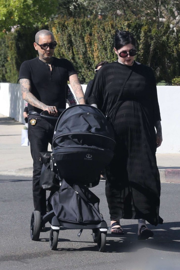 Kat Von D with her husband Rafael Reyes and their son Leafar -07