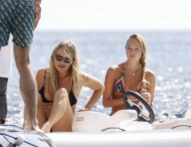 Kate and Lila Grace Moss - Bikini candids on board of a luxury yacht in Ibiza