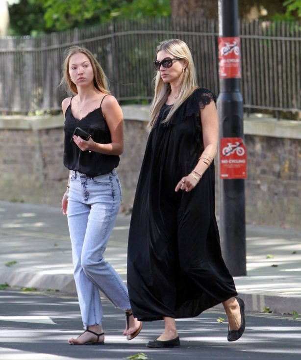 Kate and Lila Grace Moss - Out in London
