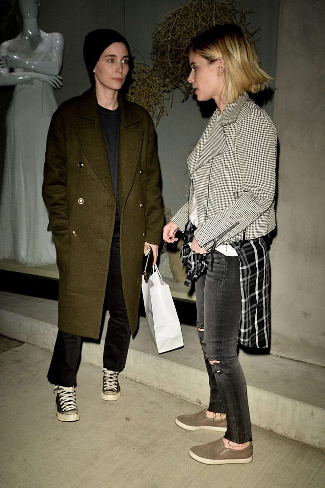 Kate and Rooney Mara out for a dinner in West Hollywood