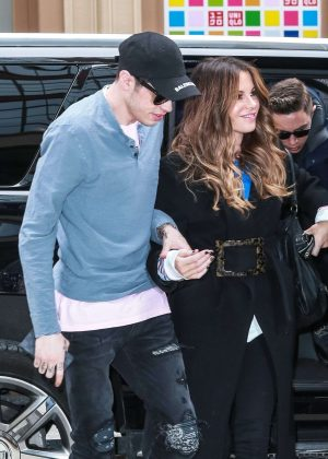 Kate Beckinsale and Pete Davidson - Leaving the NY Rangers game in NYC