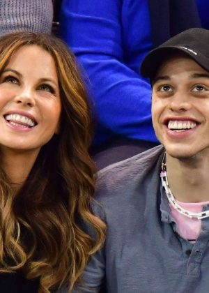 Kate Beckinsale and Pete Davidson - New York Rangers game in New York