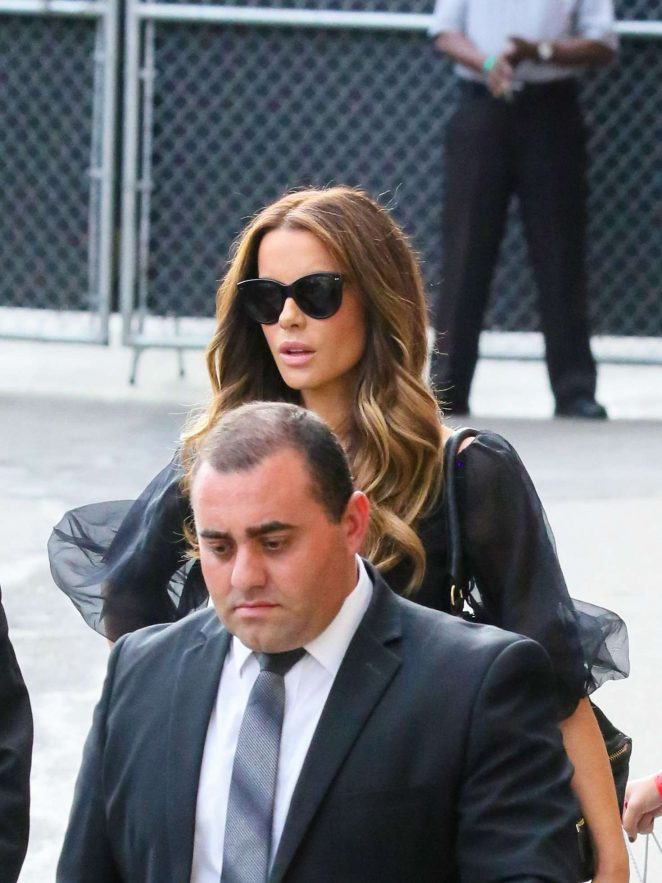 Kate Beckinsale: Arrives at the Jimmy Kimmel studio -08
